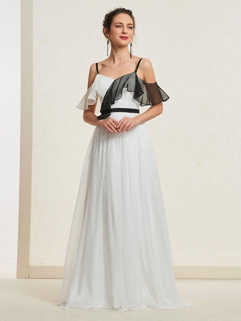 Ericdress A-Line Ruffles Sleeveless Prom Dress