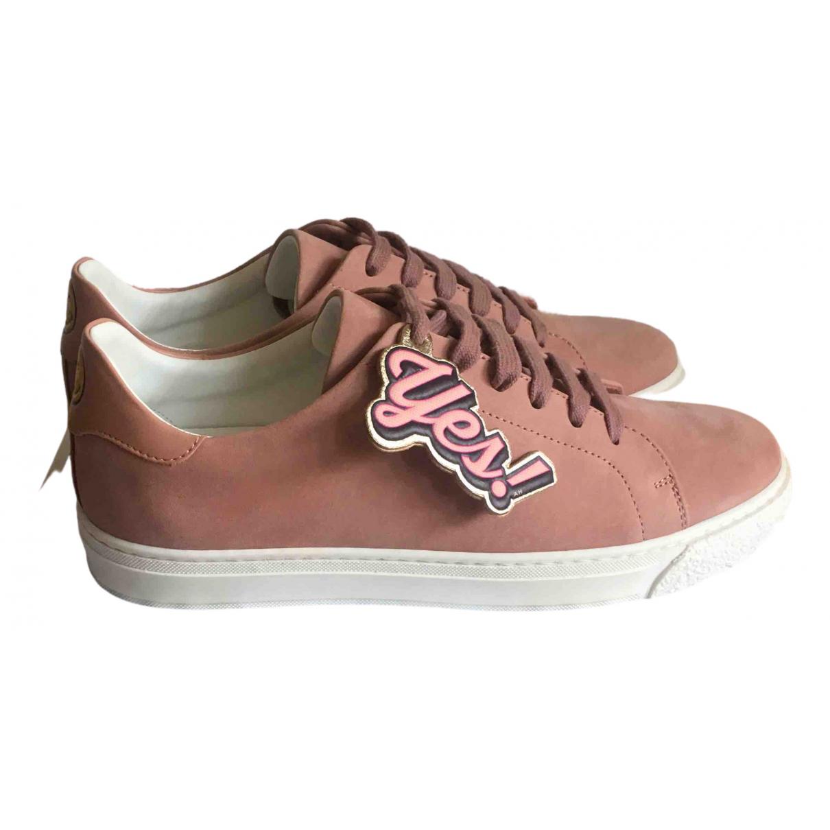 Anya Hindmarch \N Sneakers in  Rosa Veloursleder