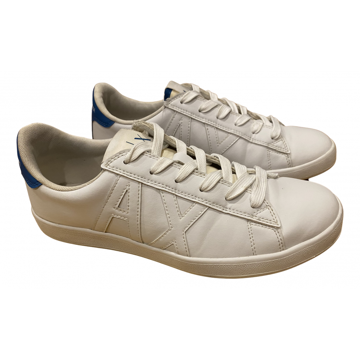 Emporio Armani \N Sneakers in  Weiss Leder