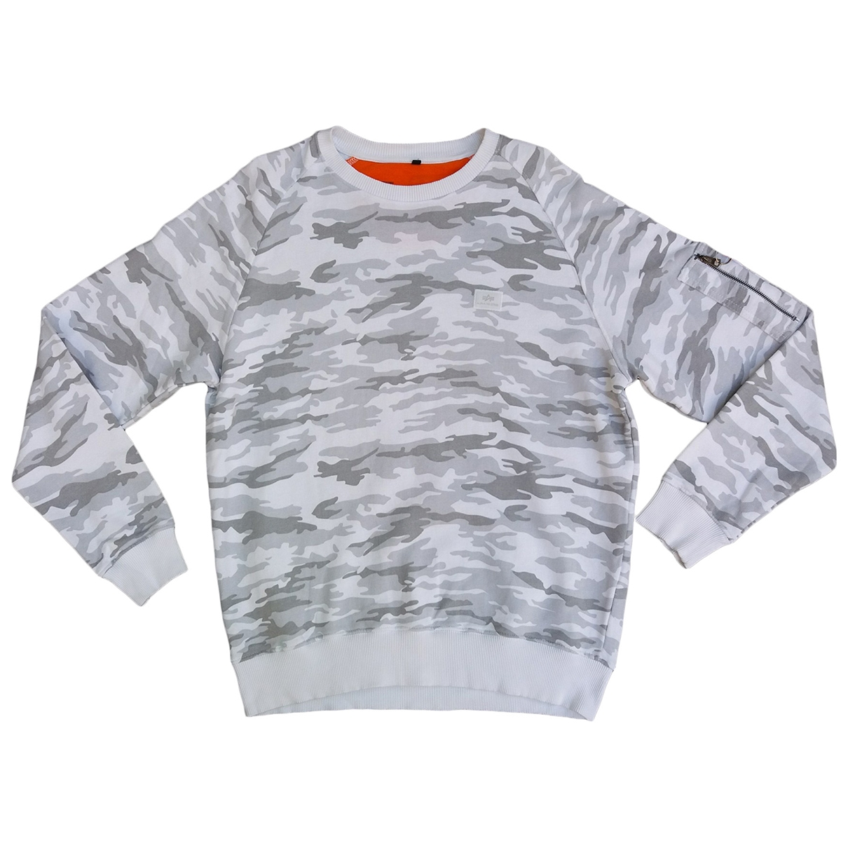 Alpha Industries \N Pullover.Westen.Sweatshirts  in  Bunt Baumwolle