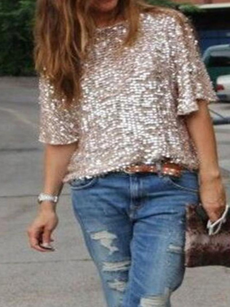Ericdress Plain Standard Half Sleeve Loose Women's Casual T-Shirt