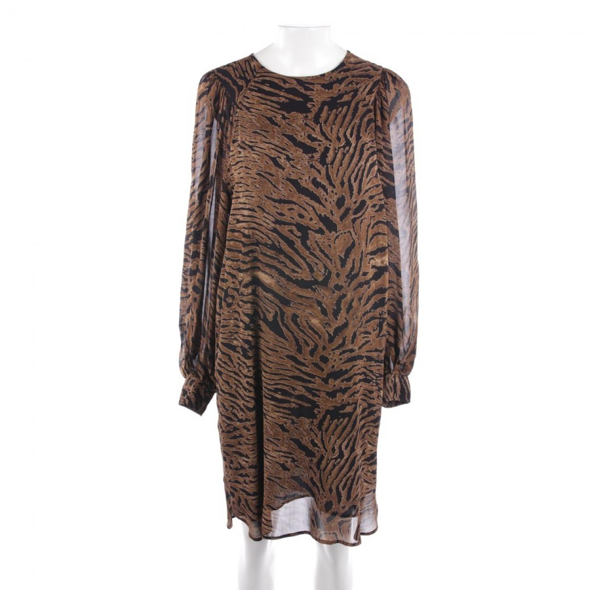 Ganni - Robe   pour femme - beige