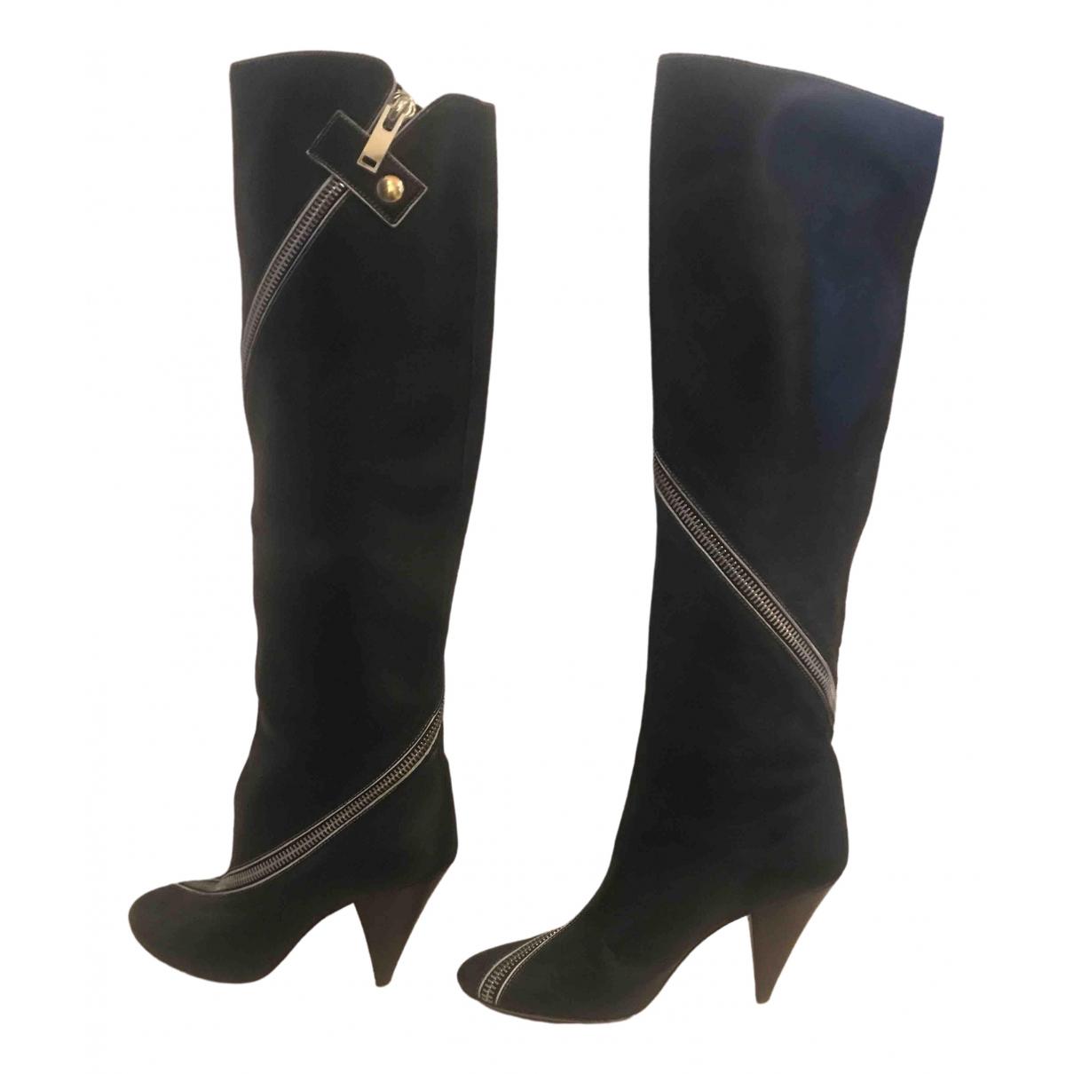 Celine \N Stiefel in  Schwarz Leder