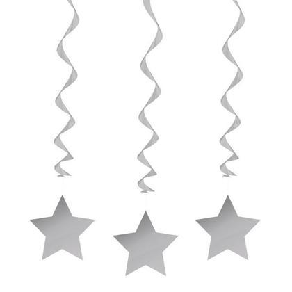 Partie Suspendue Swirl Star Décorations 26
