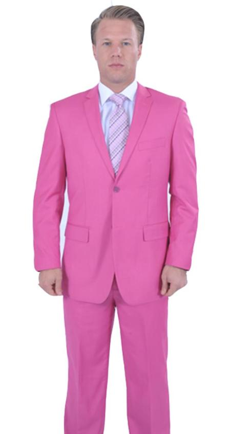 Flamboyant Colorful 2 Piece affordable suit online sale Fuchsia