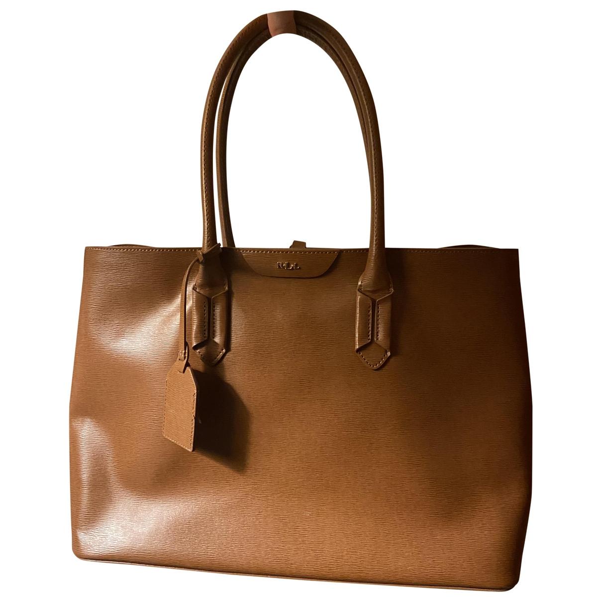 Lauren Ralph Lauren - Sac a main   pour femme en cuir - marron