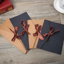 4 Stuecke Zufaelliger Umschlag mit Band Dekor