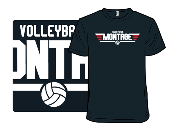 Volleyball Montage T Shirt