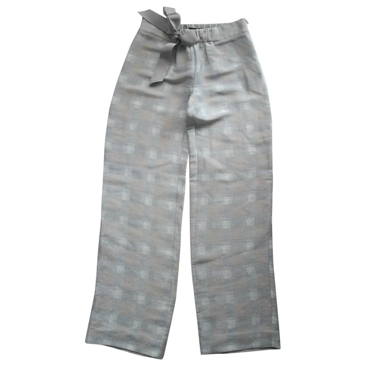 Emporio Armani \N Multicolour Linen Trousers for Women 40 IT