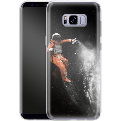 Samsung Galaxy S8 Plus Silikon Handyhuelle - Space Astronaut von Florent Bodart