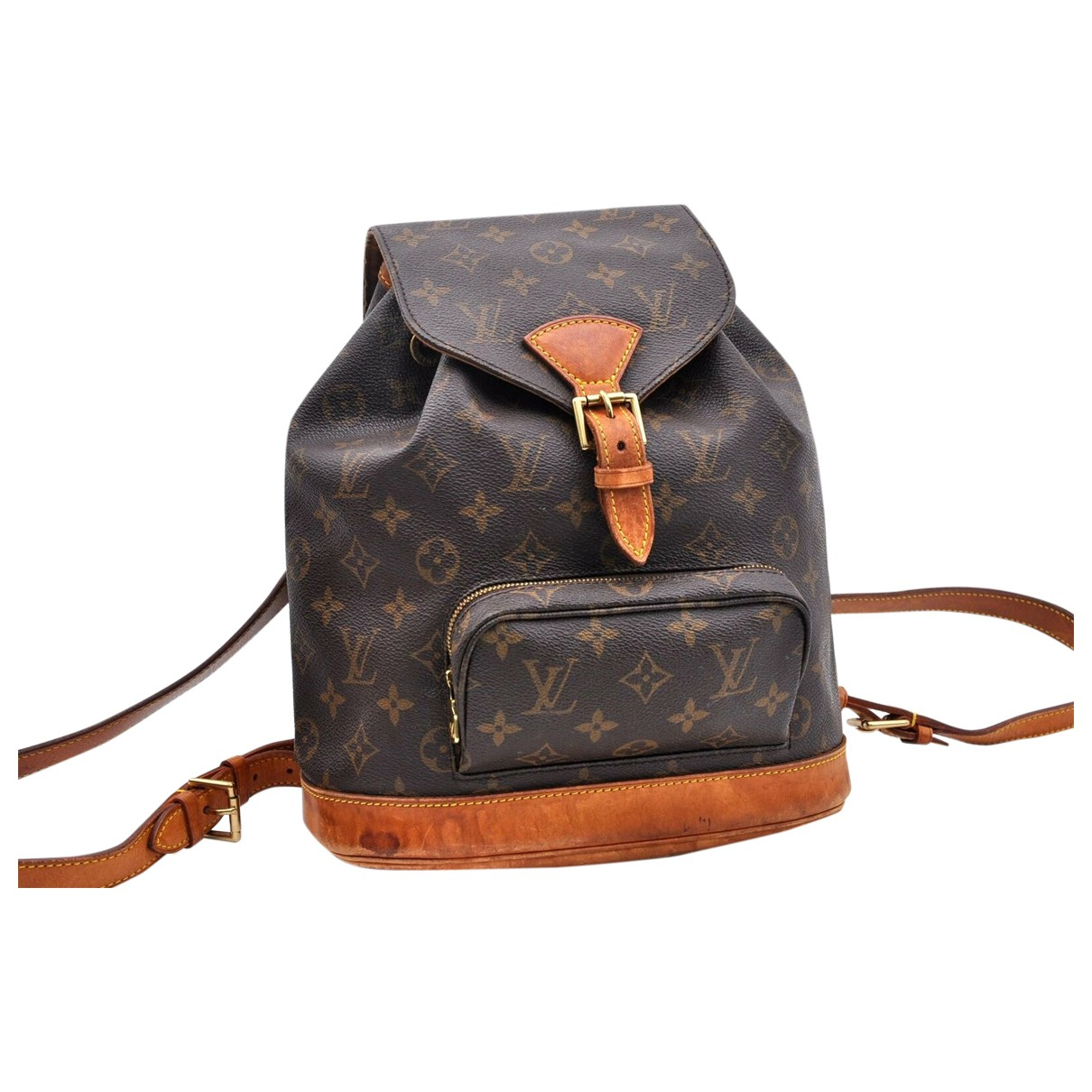 Louis Vuitton \N Brown Cloth backpack for Women \N