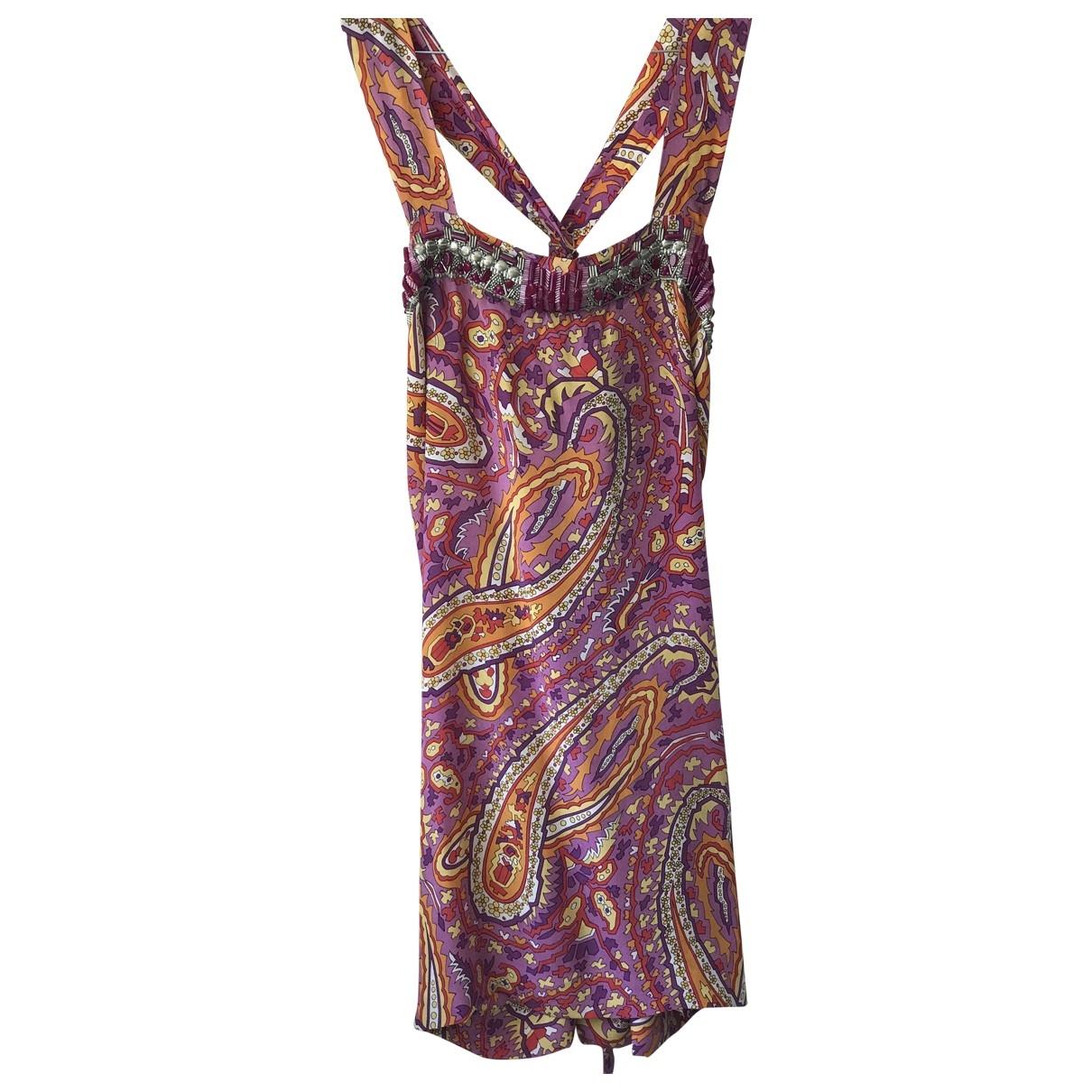 Parosh - Robe   pour femme en soie - multicolore