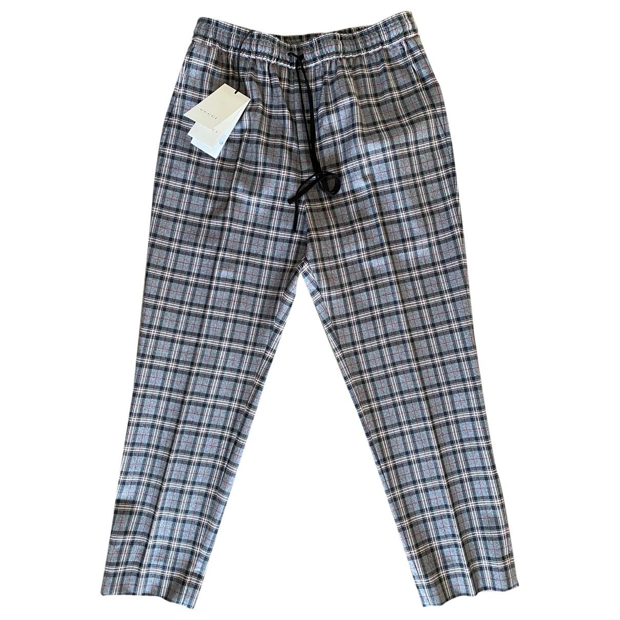 Gucci \N Grey Wool Trousers for Men 46 IT