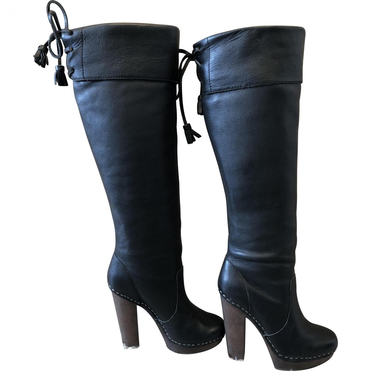 Steve Madden \N Black Leather Boots for Women 6 US