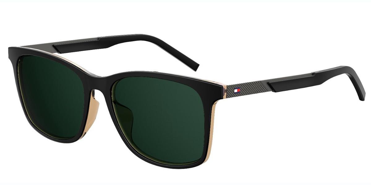 Tommy Hilfiger TH 1679/F/S Asian Fit 71C/QT Men's Sunglasses Black Size 55