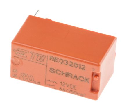 TE Connectivity , 12V dc Coil Non-Latching Relay SPNO, 6A Switching Current PCB Mount Single Pole