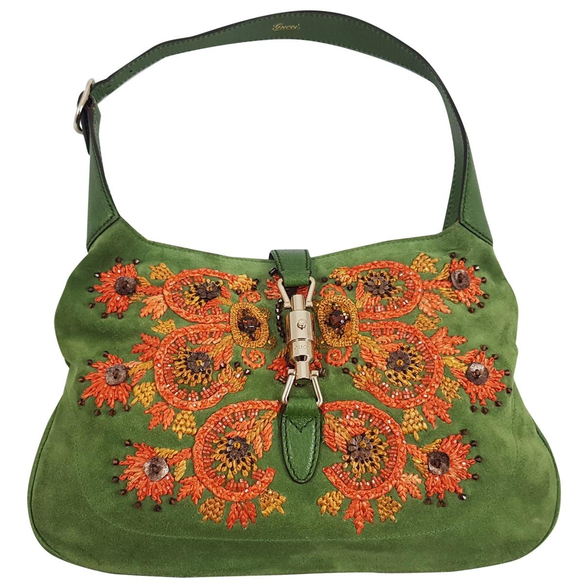 Gucci - Sac a main Jackie Vintage  pour femme en suede - vert