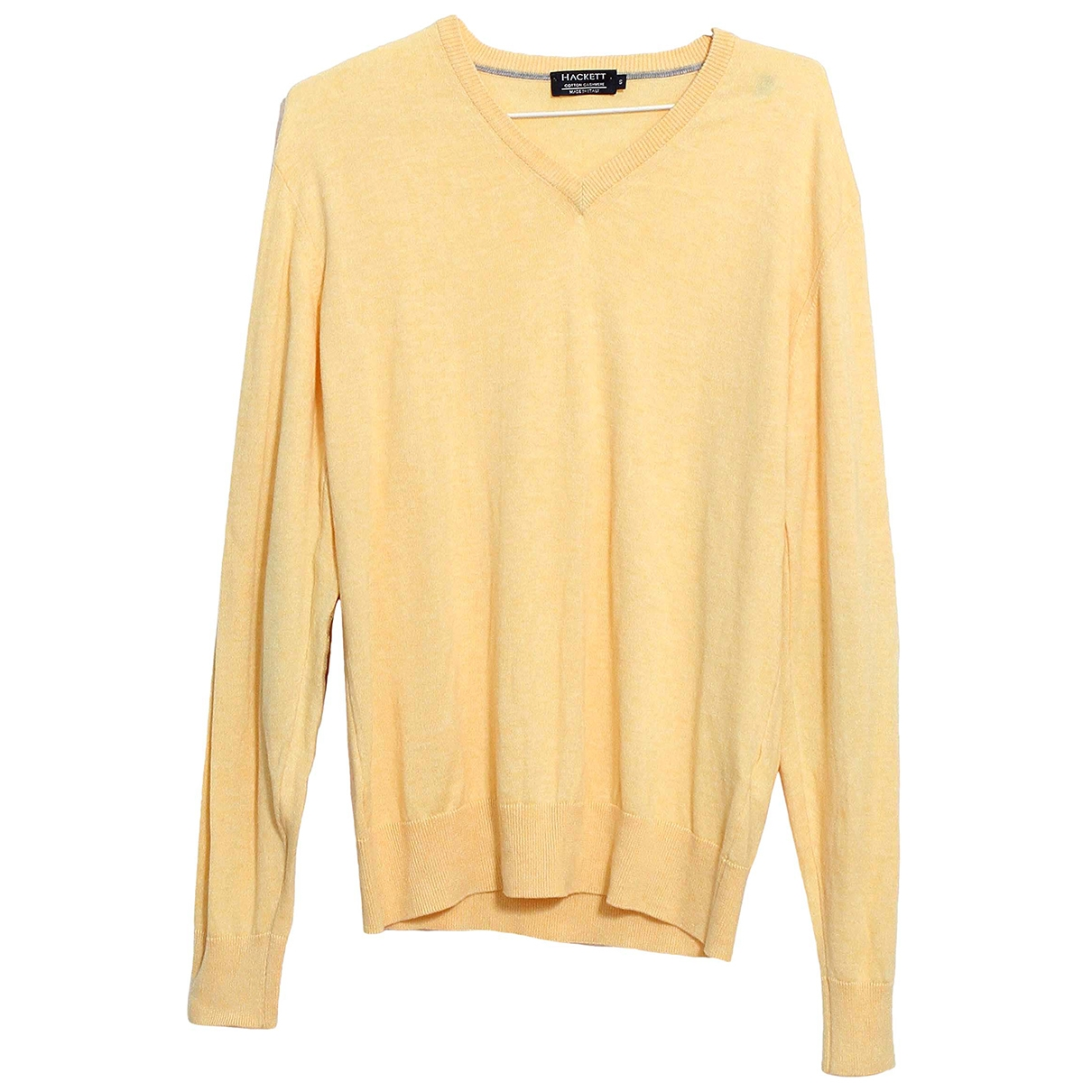 Hackett London \N Pullover.Westen.Sweatshirts  in  Gelb Baumwolle
