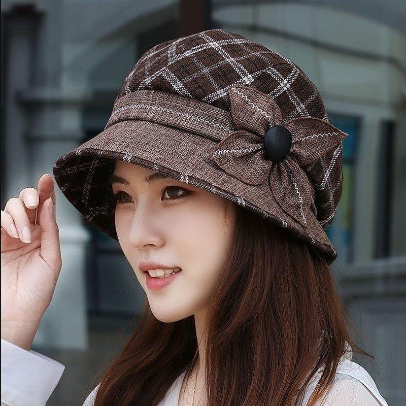 Women Wild Flower Elegant Vogue Basin Fishmen Hat Outdoor Casual Sunscreen Bucket Hat