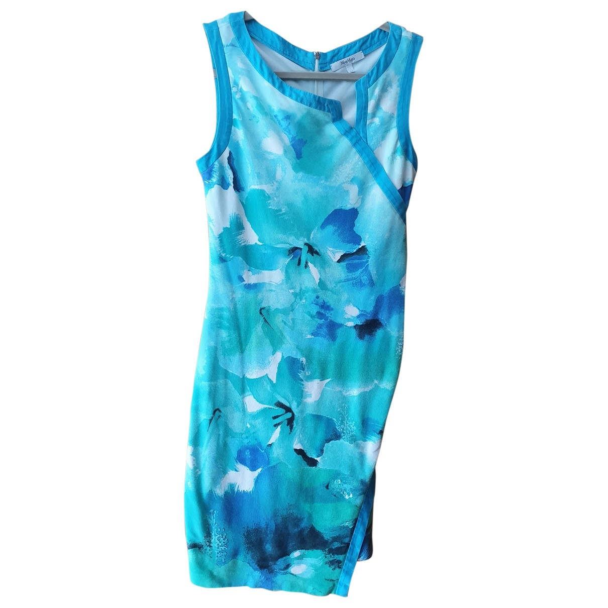 Max Mara \N Turquoise Cotton dress for Women 40 FR