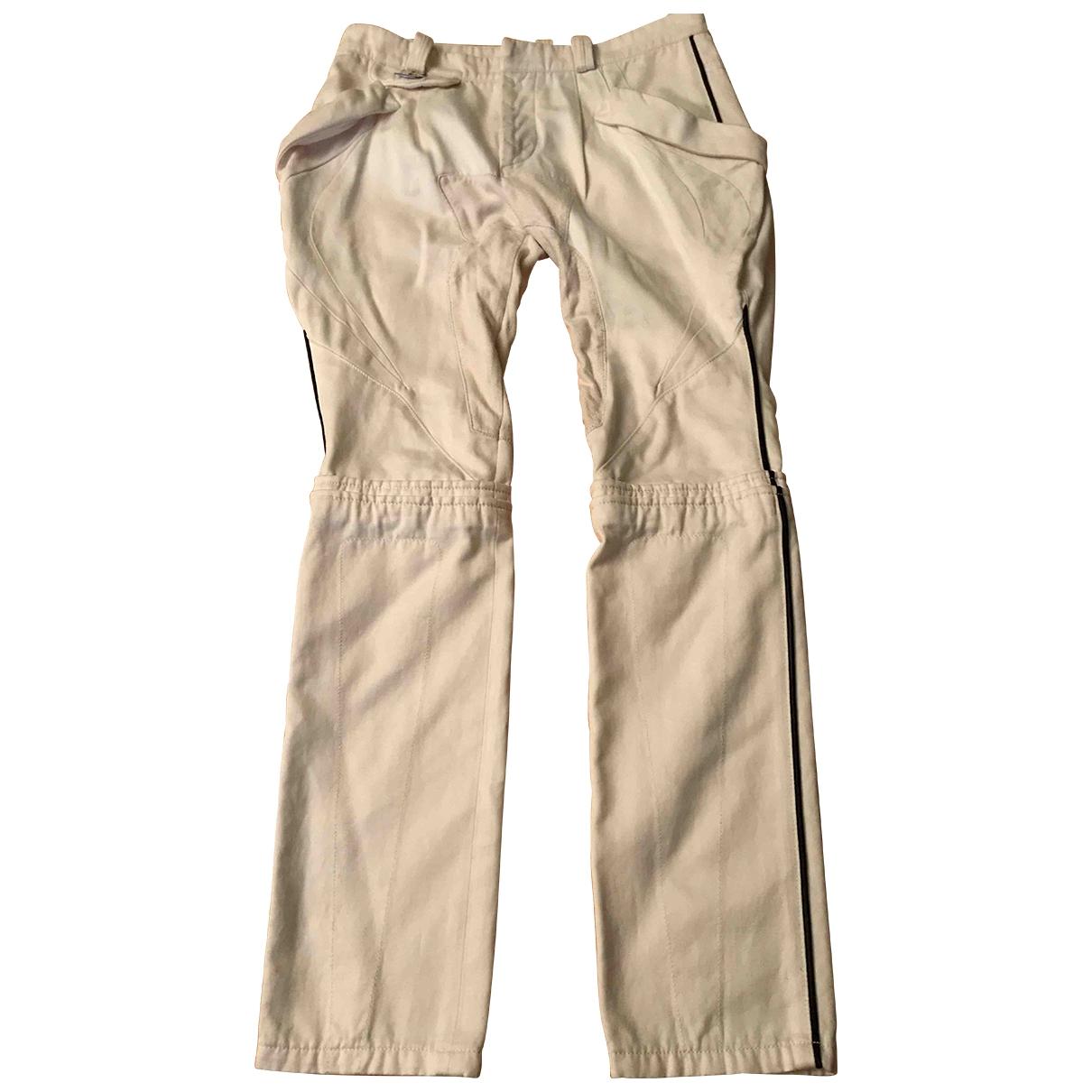Balenciaga - Pantalon   pour femme en coton - blanc