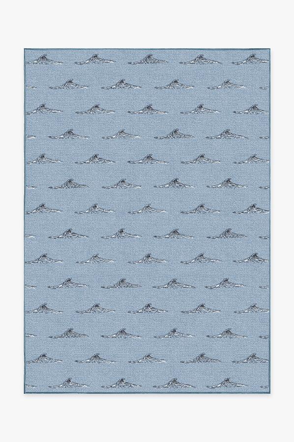Washable Rug Cover & Pad | Whitecaps Chambray Rug | Stain-Resistant | Ruggable | 5x7