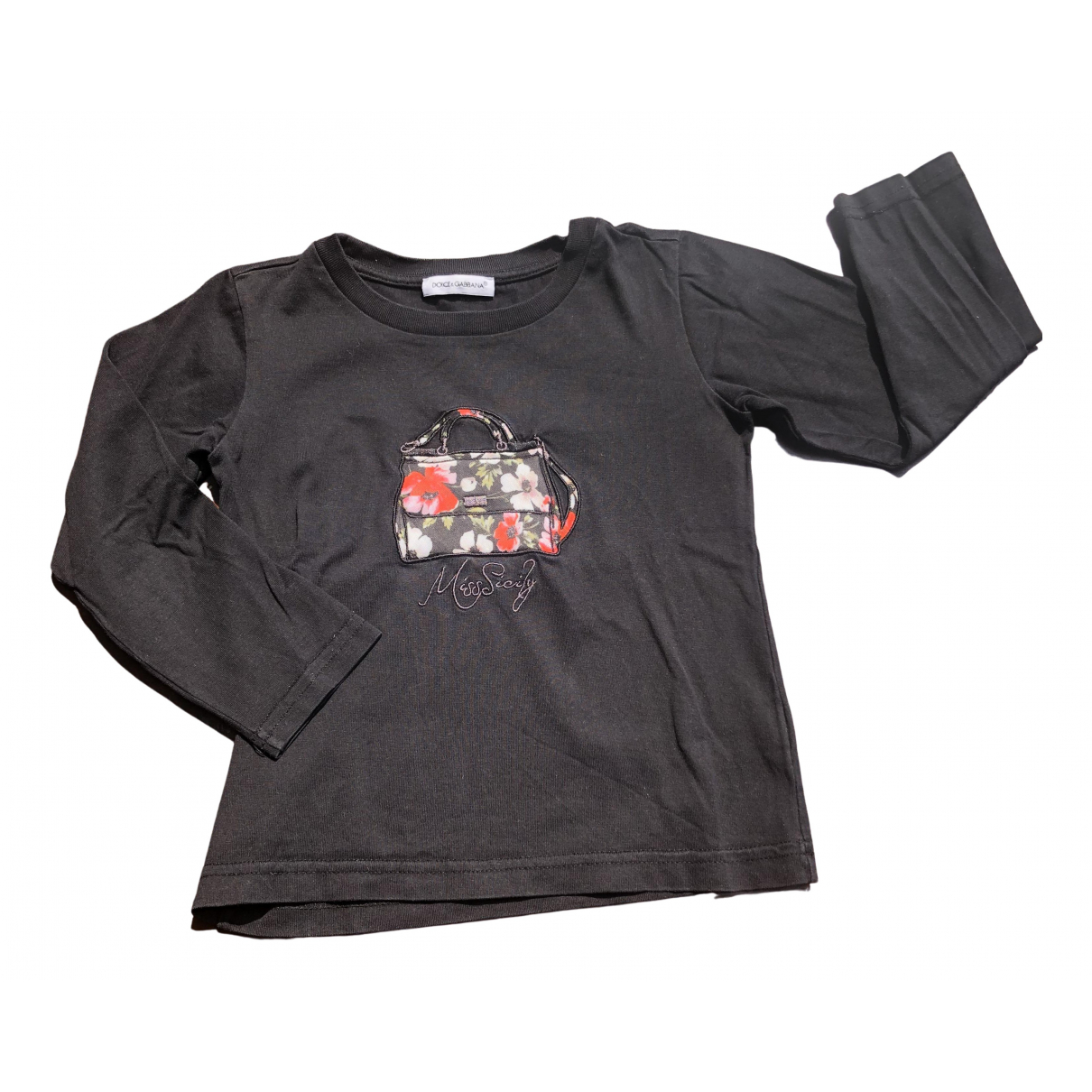 Dolce & Gabbana \N Black Cotton  top for Kids 2 years - up to 86cm FR