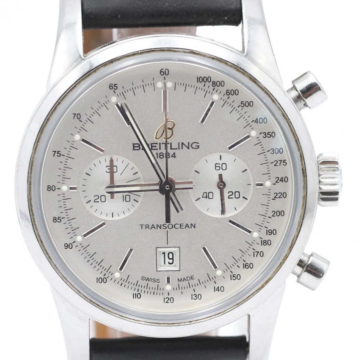 Breitling \N Uhr in  Silber Stahl