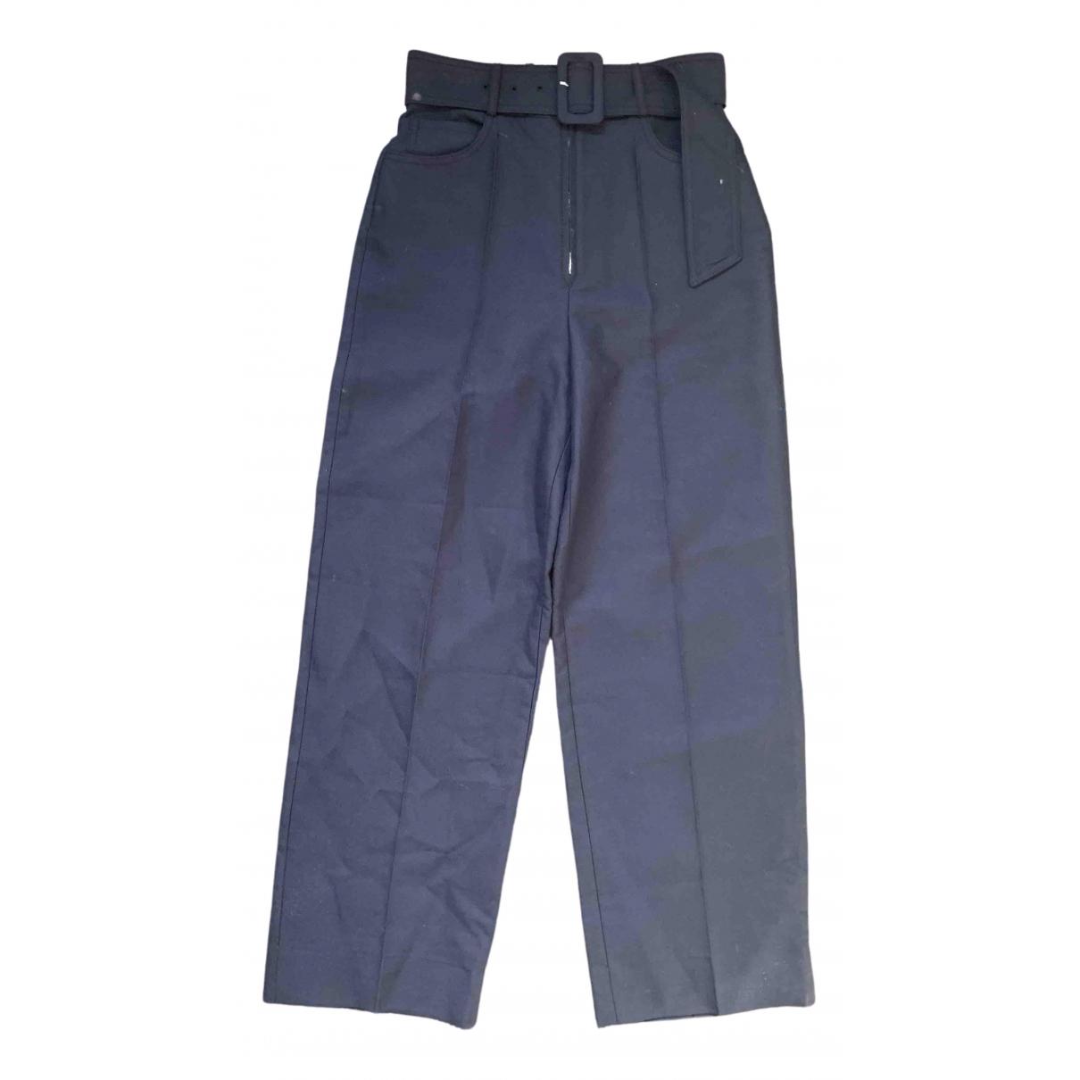 Sandro Spring Summer 2019 Blue Cotton Trousers for Women 36 FR
