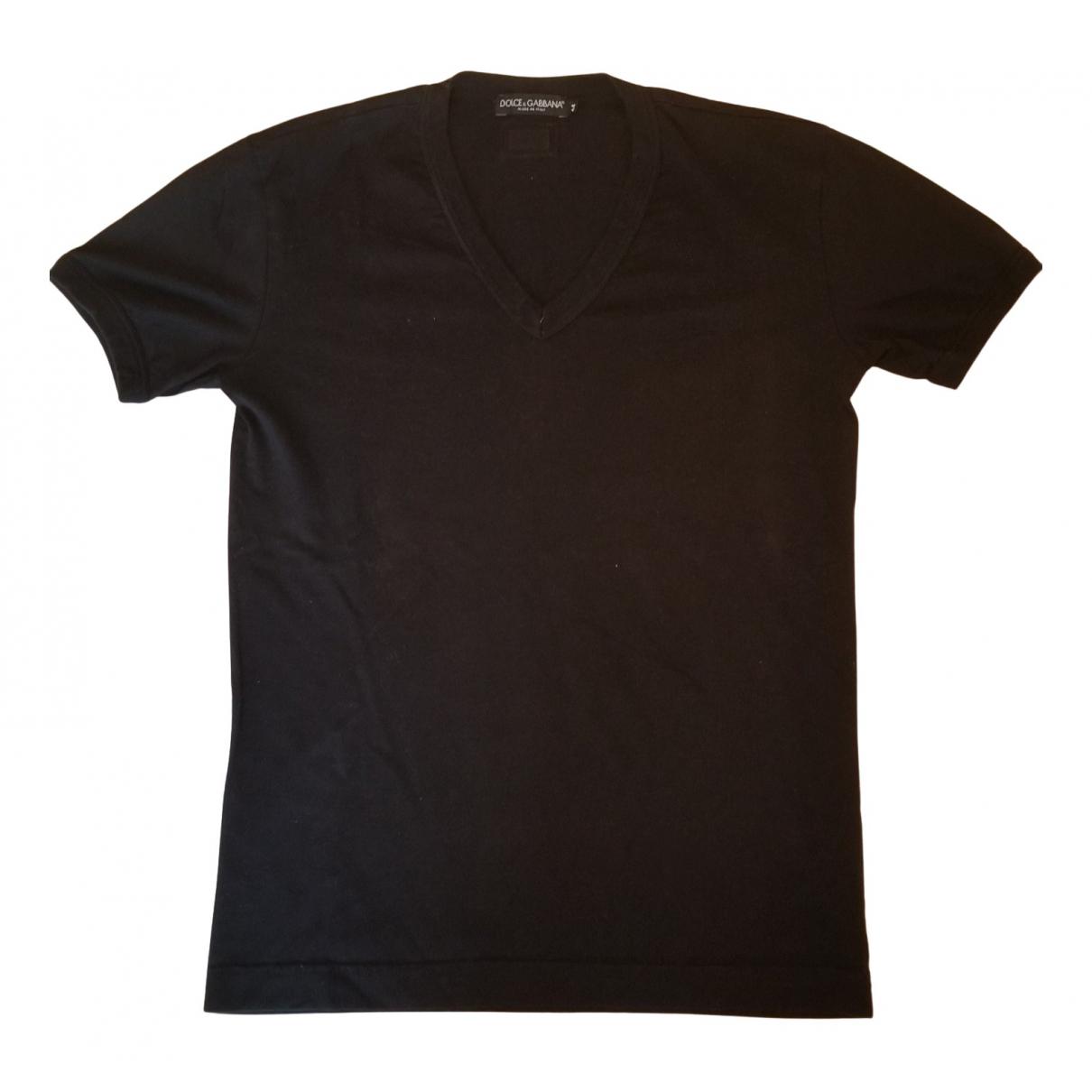 Dolce & Gabbana - Tee shirts   pour homme en coton - noir
