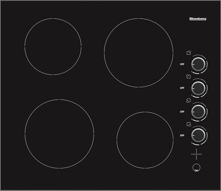 CTE24402 24 Electric Cooktop with 4 Radiant Elements  Side-Mount Controls and Residual Heat Indication  in Black with Stainless Steel