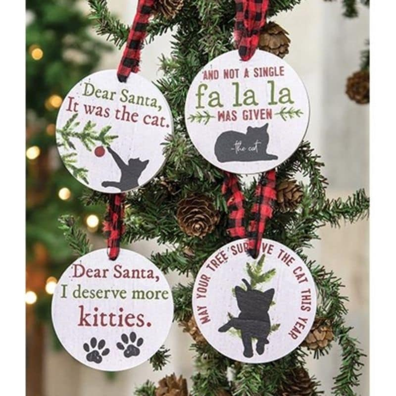 4/Set The Cat Gift Tags - White (White)