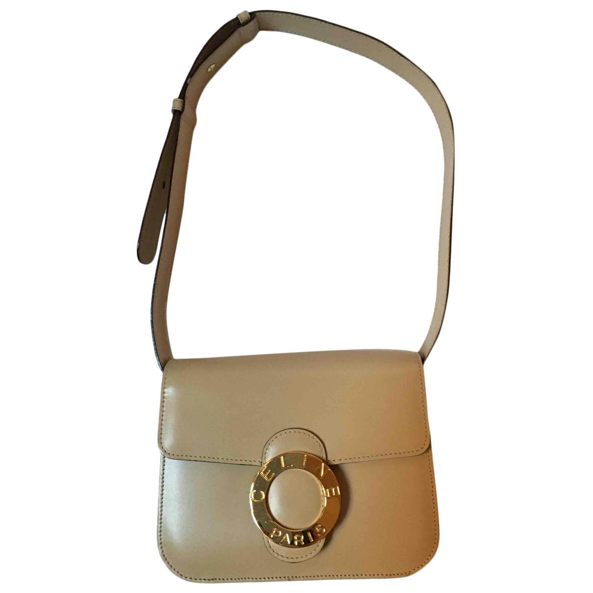 Celine \N Handtasche in  Ecru Leder