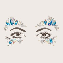 1sheet Halloween Eye Decoration Rhinestone Sticker