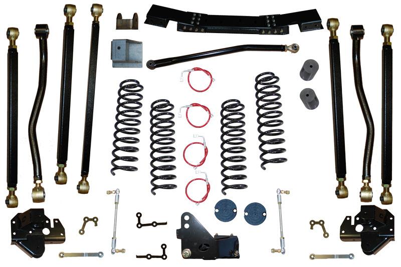 JK 2.5 inch Pro Series 3 Link Long Arm Lift Kit 07-11 Clayton Offroad COR-3608025-COR