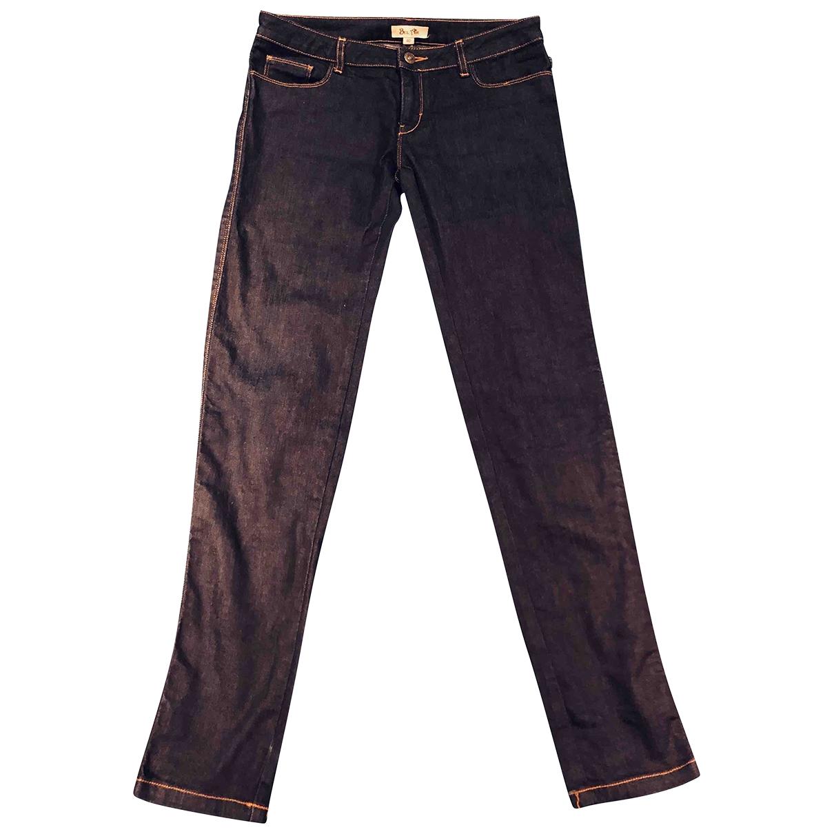 Bel Air \N Blue Cotton - elasthane Jeans for Women 40 FR