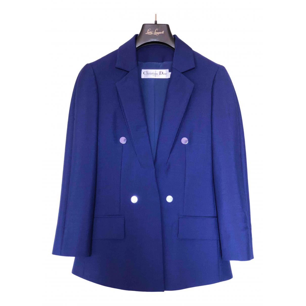 Dior \N Jacke in  Blau Wolle