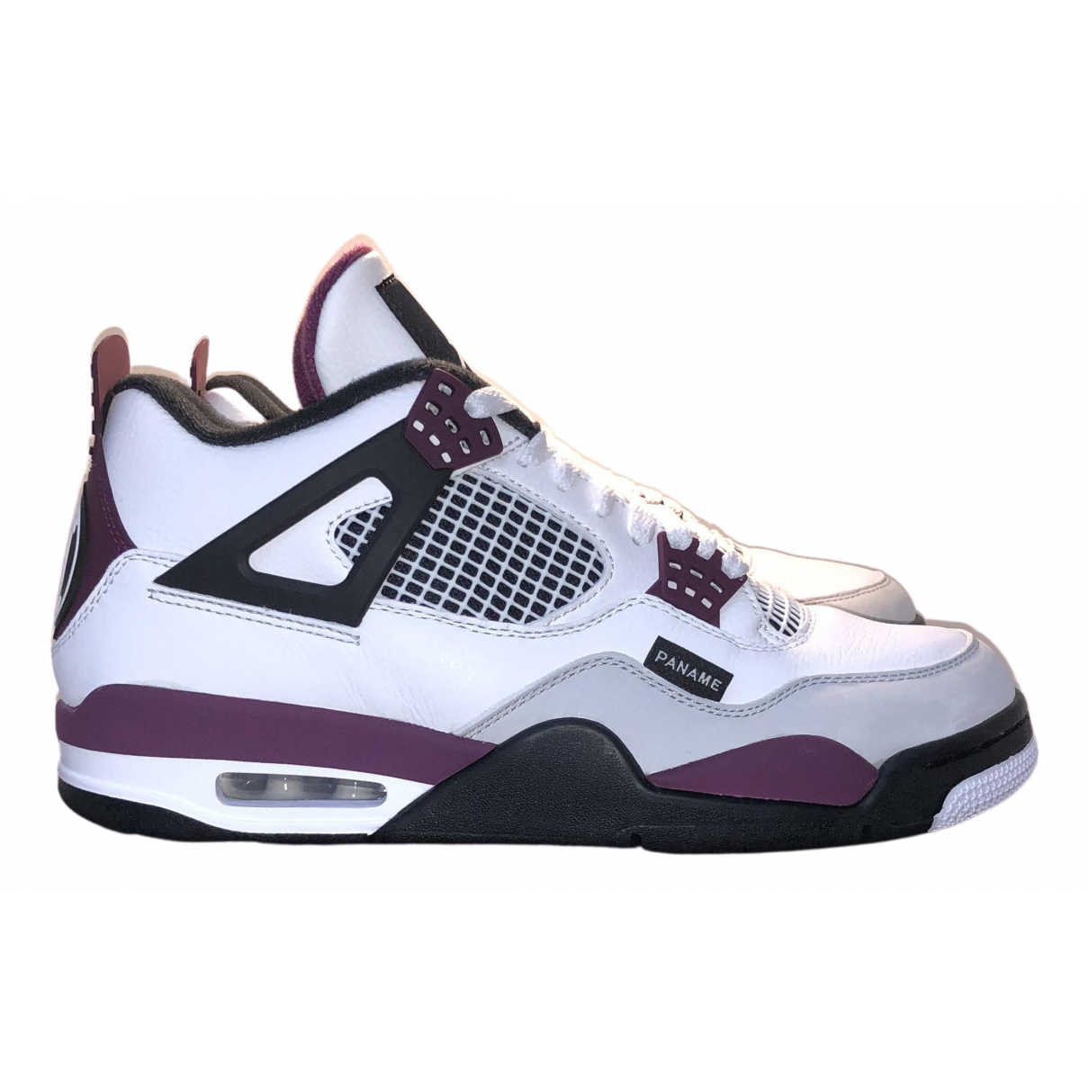 Jordan - Baskets Air Jordan 4 pour homme en cuir - blanc