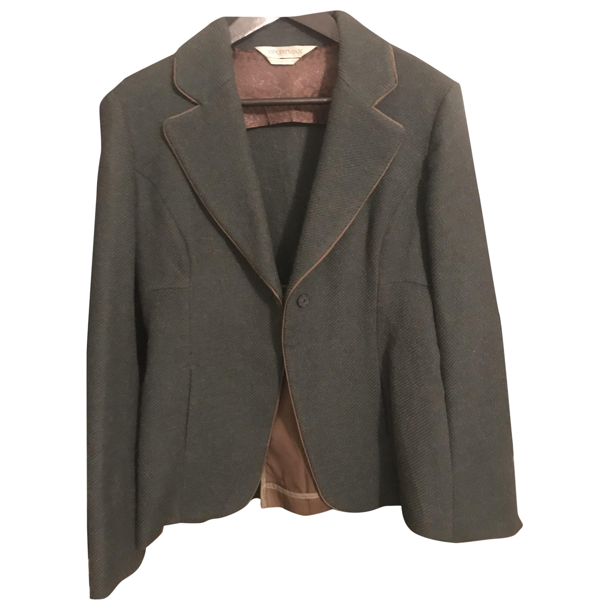 Sport Max \N Green Wool jacket for Women 42 IT