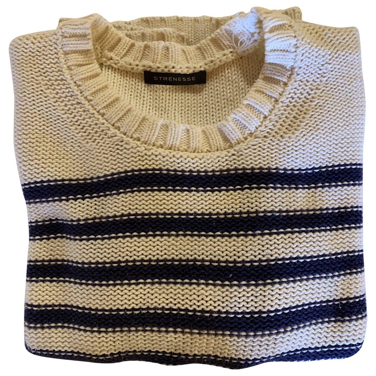 Strenesse - Pull   pour femme en coton - blanc