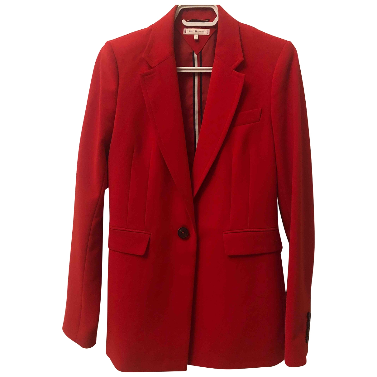 Tommy Hilfiger \N Jacke in  Rot Polyester