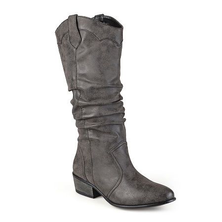 Journee Collection Womens Drover Slouch Riding Boots, 8 Medium, Black