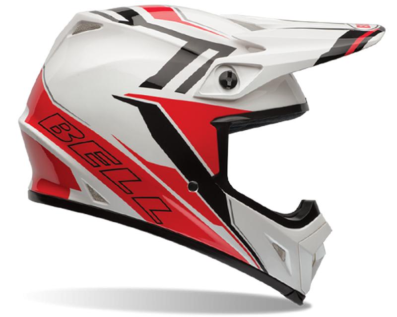 Bell Racing 7061062 MX-9 Blockade Black | White Helmet 58-59 | LG