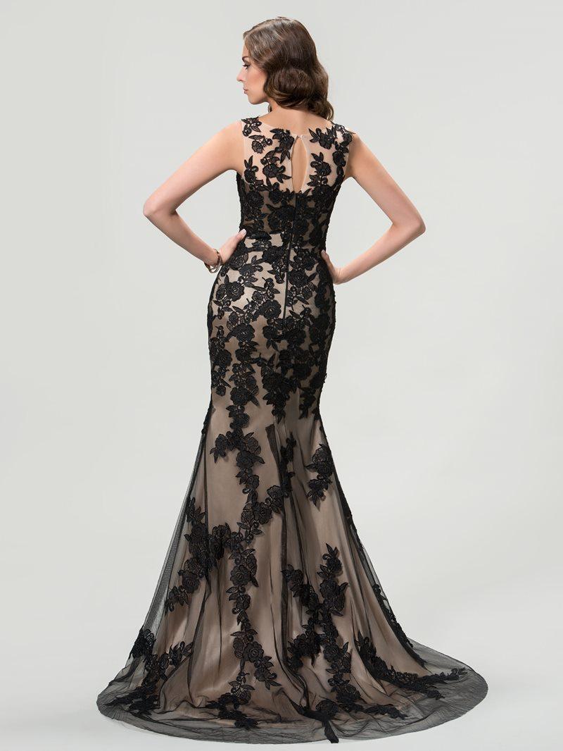 Scoop Lace Mermaid/Trumpet Evening Dress