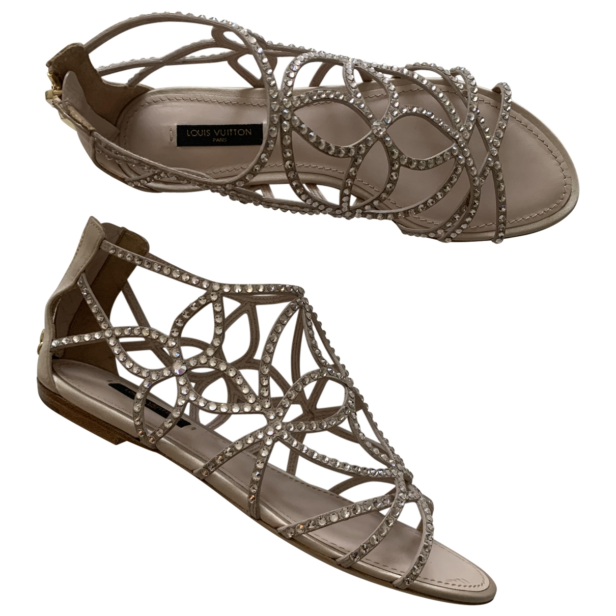 Louis Vuitton \N Sandalen in  Beige Mit Pailletten