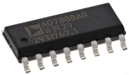 Analog Devices AD7888ARZ, 12-bit Serial ADC, 16-Pin SOIC