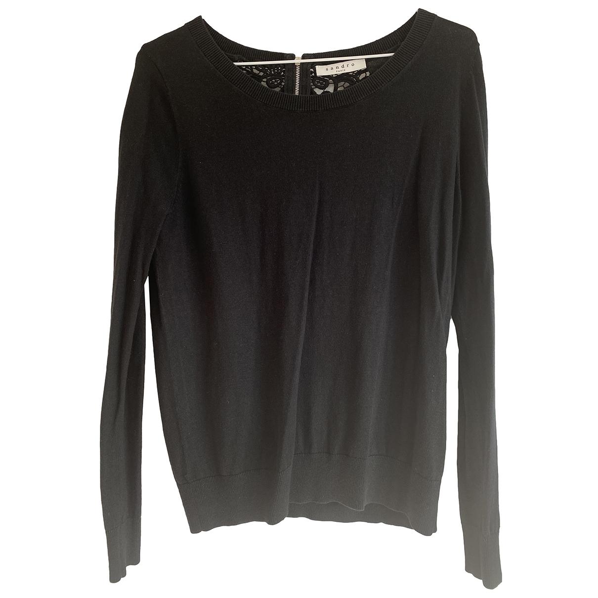 Sandro \N Black Cotton Knitwear for Women 36 FR