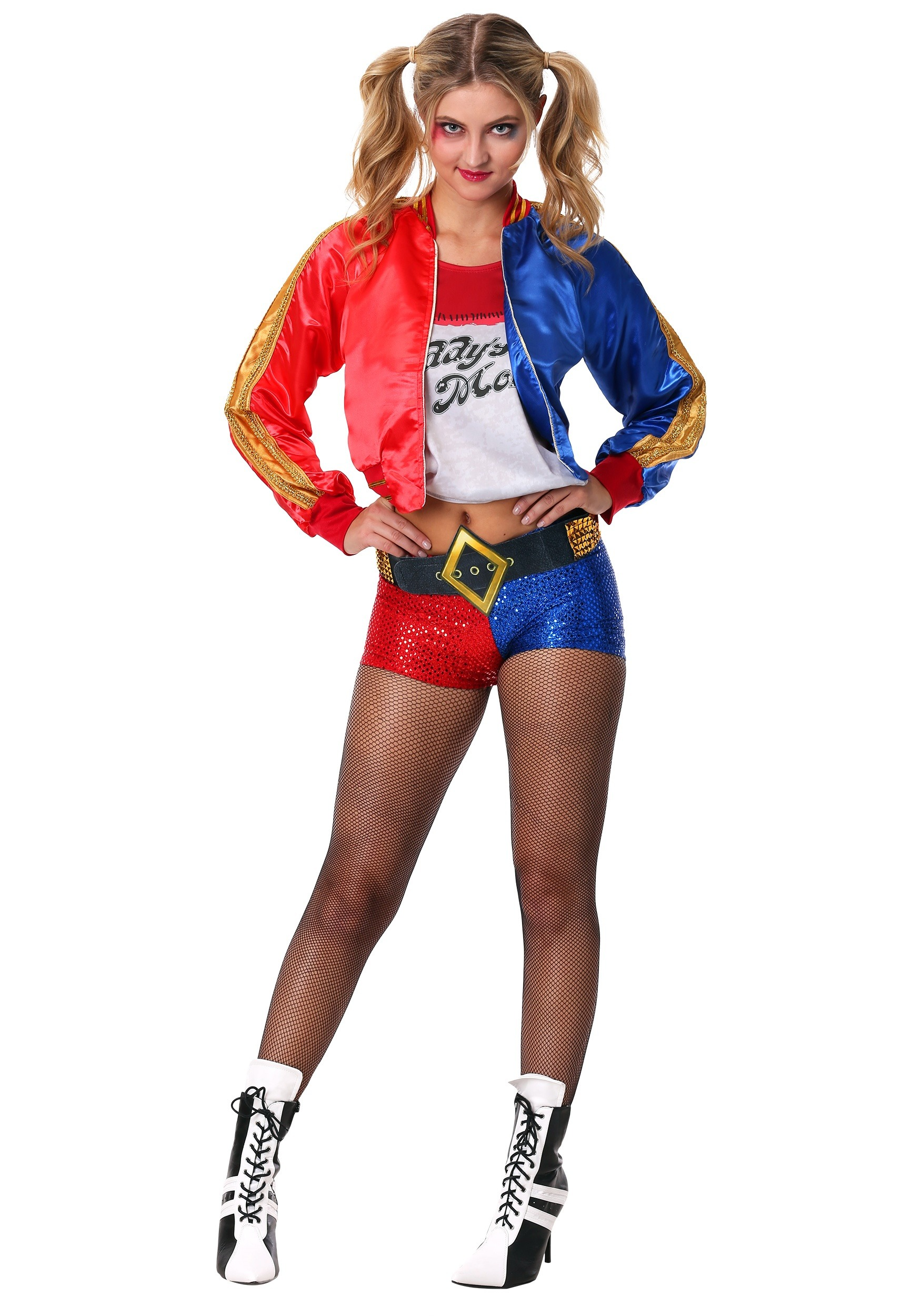 Deluxe Suicide Squad Harley Quinn Costume for Women