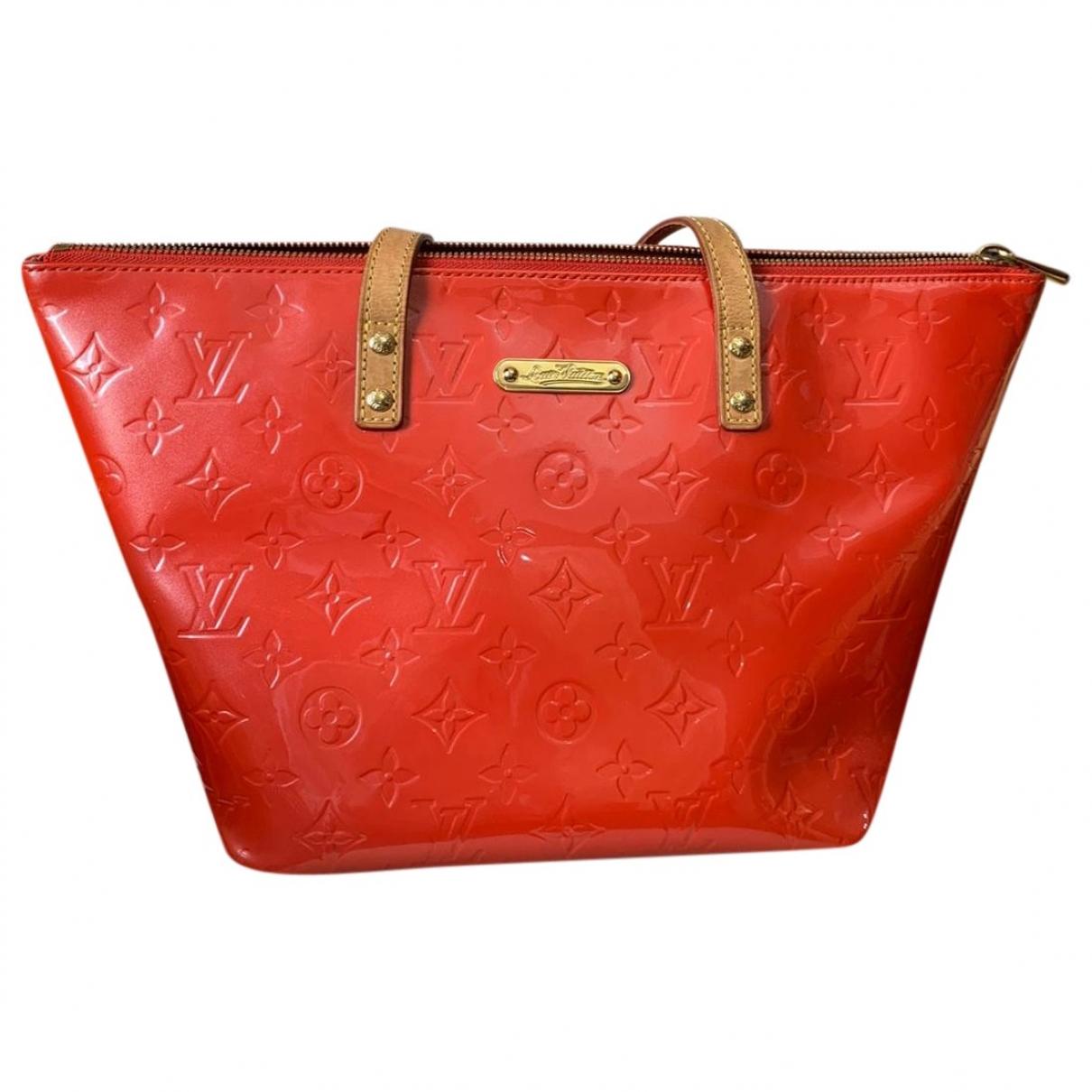 Louis Vuitton - Sac a main Bellevue pour femme en cuir verni - orange