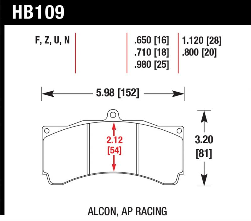 Hawk Performance HB109G.710 Disc Brake Pad